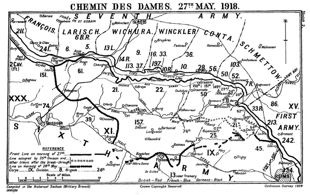 Chemin des Dames 27th May 1918
