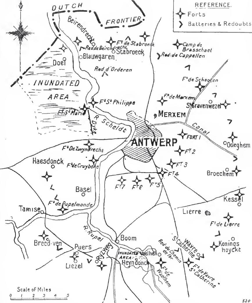 Antwerp Defences in 1914
