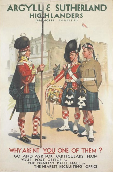 Argyll and Sutherland Highlanders Recruiting Poster
