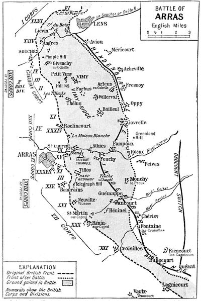 Battle of Arras Map