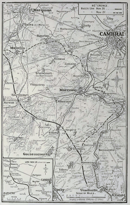 Cambrai area in 1917