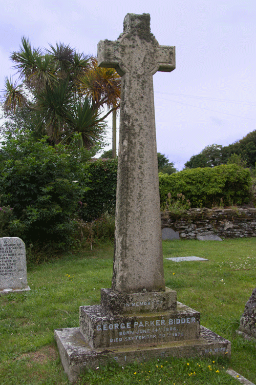 George Parker Bidder Grave at St Peter's Church Stoke Fleming