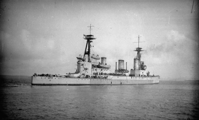 HMS Indefatigable in 1909