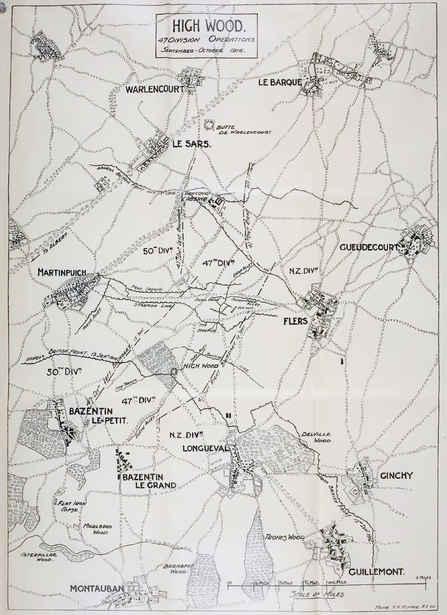 The 47<sup>th</sup> Division's attack at High Wood