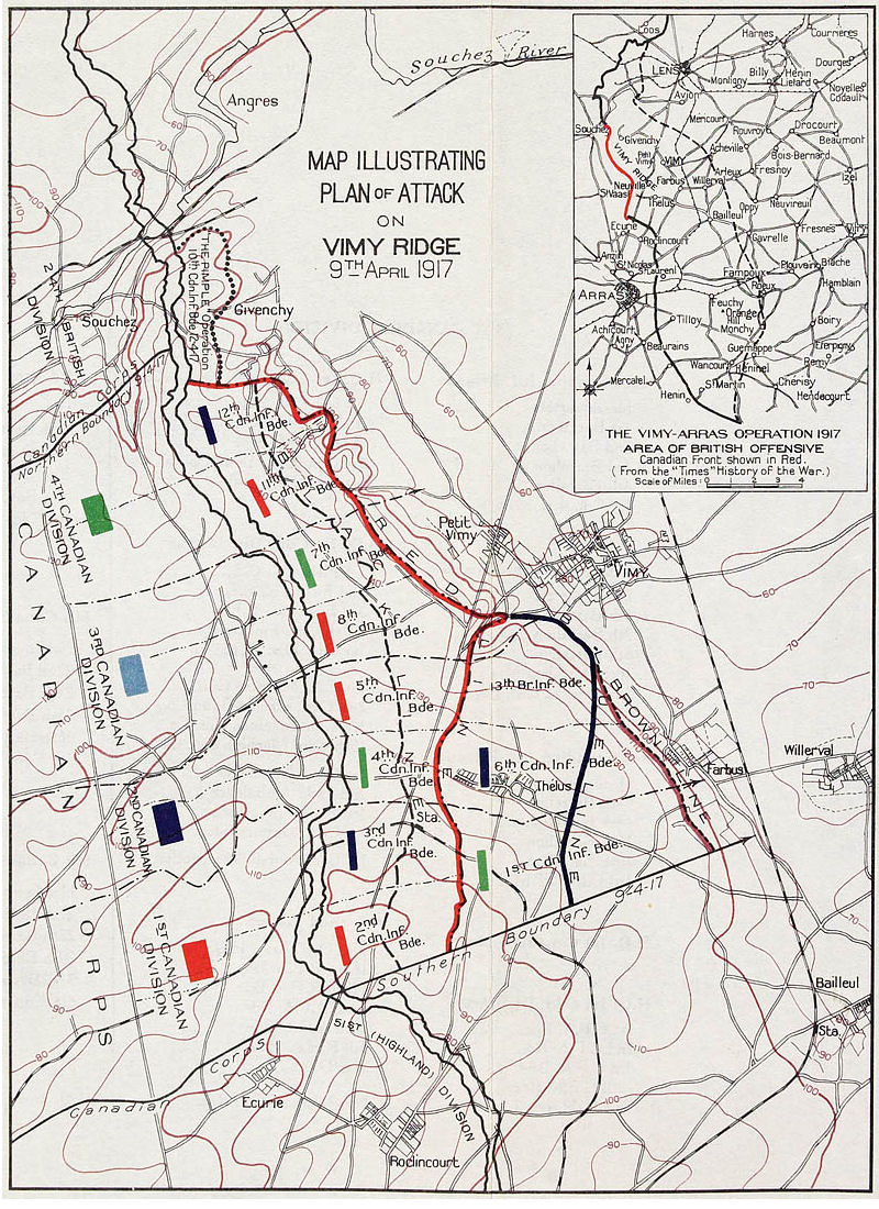 Attack on Vimy Ridge, 9 April 1917