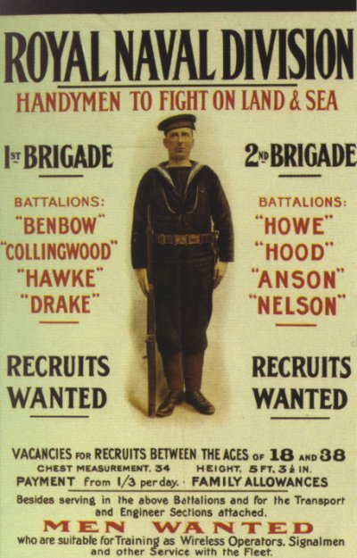 Royal Naval Division Recruiting Poster
