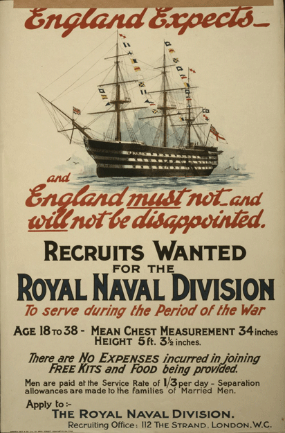 Royal Naval Division Recruitment Poster 1915