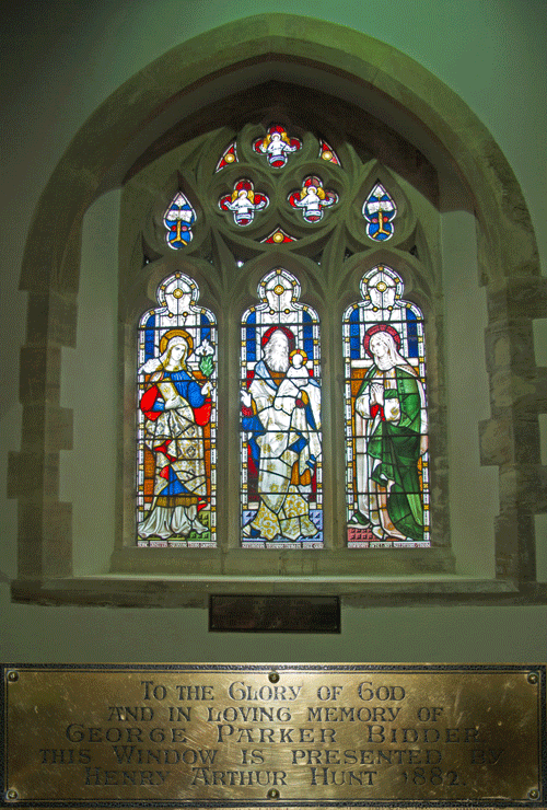 George Parker Bidder Stained Glass Window at St Peter's Church Stoke Fleming