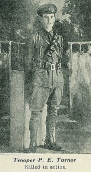 Trooper Percy Edward Turnorfrp, Wellington College Magazine, 1919