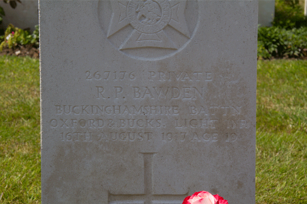 Reginald Pritchard Bawden's Headstone at Cement House Cemetery