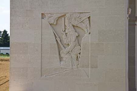 Frieze at Cambrai Memorial