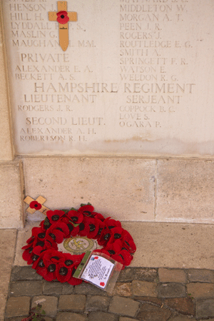 Samuel Love at Cambrai Memorial