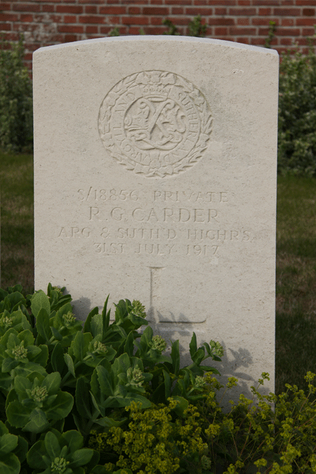 Richard Carder at No Man's Cot Cemetery