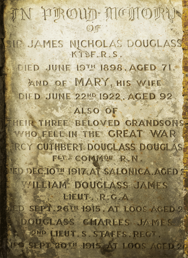 Douglass Family Graves at St Petrox