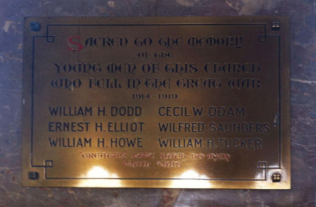 Flavel Chirch Memorial Board