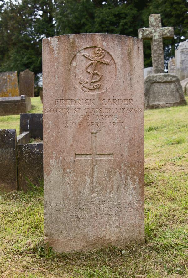 Frederick Carder at Paignton Cemetery