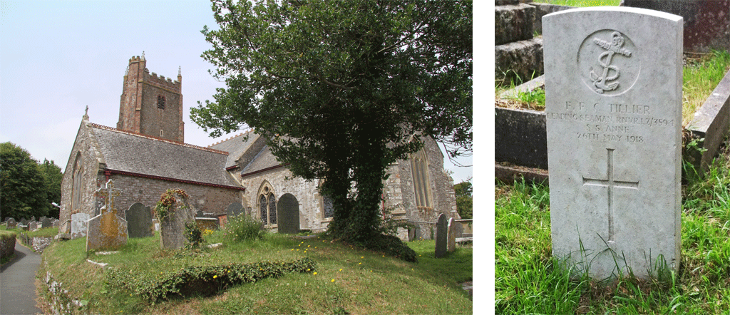 Frederick Francis Charles Tillier in St Clements Churchyard Dartmouth