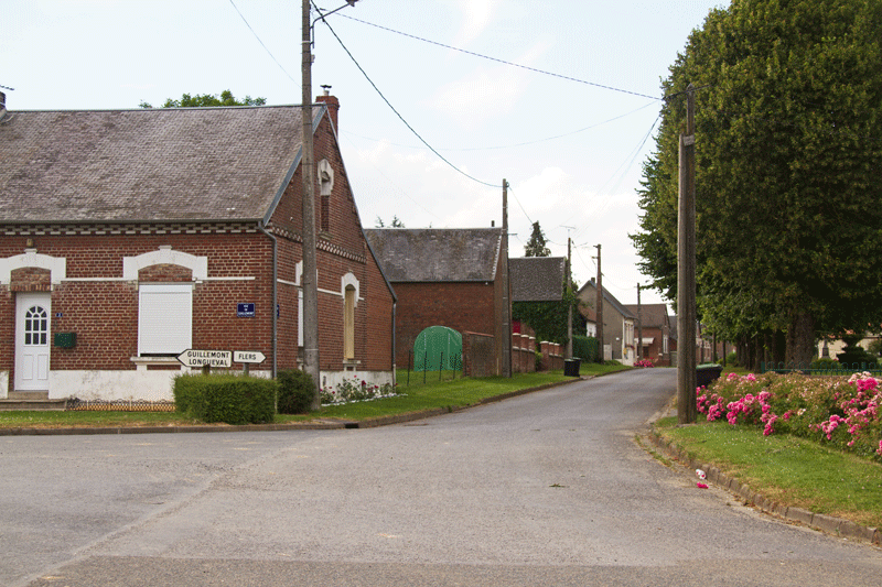 The main street in Ginchy