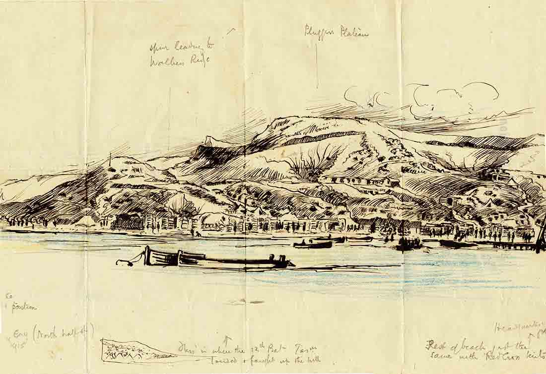 Major Hore ANZAC Cove from the Sea [PXE 702-3] copyright Museum Victoria