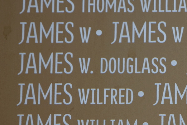 William Douglass James Ring of Memory memorial at Notre Dame de Lorette