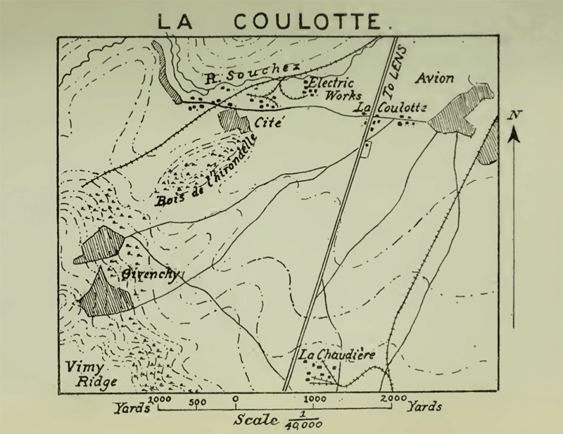 La Coulotte, from the history of the 5th Division in the Great War