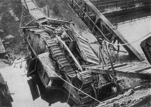 The Flying Fox II tank and the bridge at Masnieres