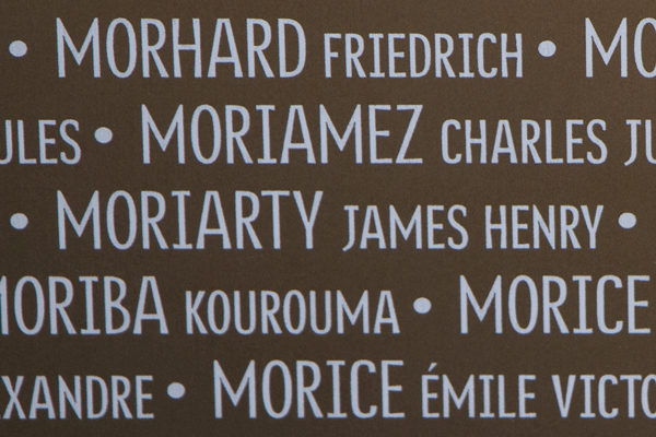 James Henry Moriarty Ring of Memory memorial at Notre Dame de Lorette