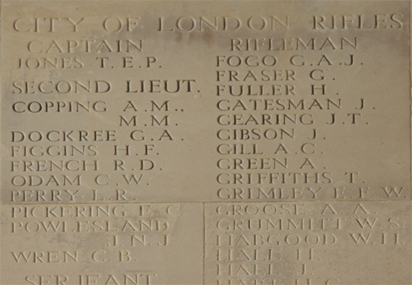 Cecil Wilfred Odam at Thiepval Memorial