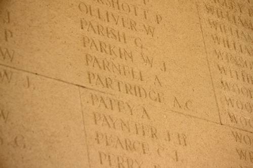 Alfred Charles Partridge at Arras Memorial