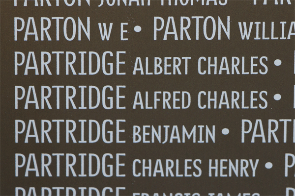 Alfred Charles Partridge Ring of Memory memorial at Notre Dame de Lorette