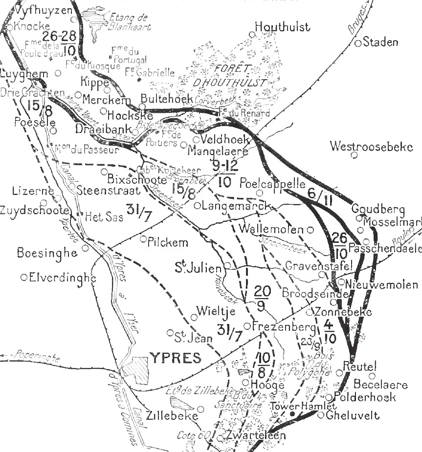 Passchendaele  Allied advances, 22 October - 6 November