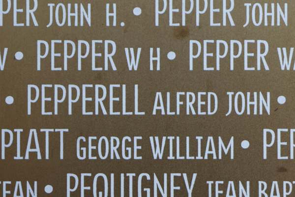 Alfred John Pepperell Ring of Memory memorial at Notre Dame de Lorette