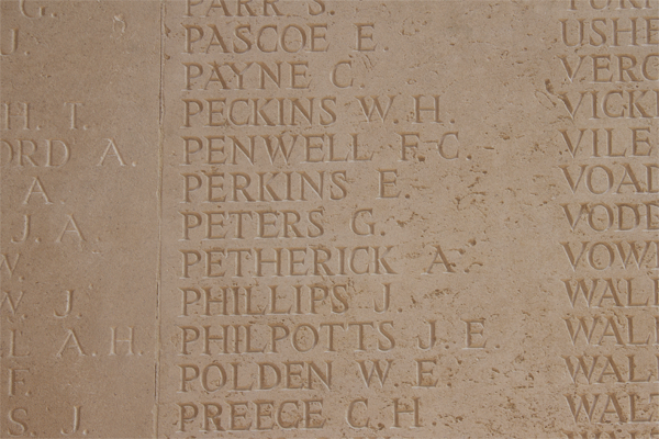 George Peters at Thiepval Memorial