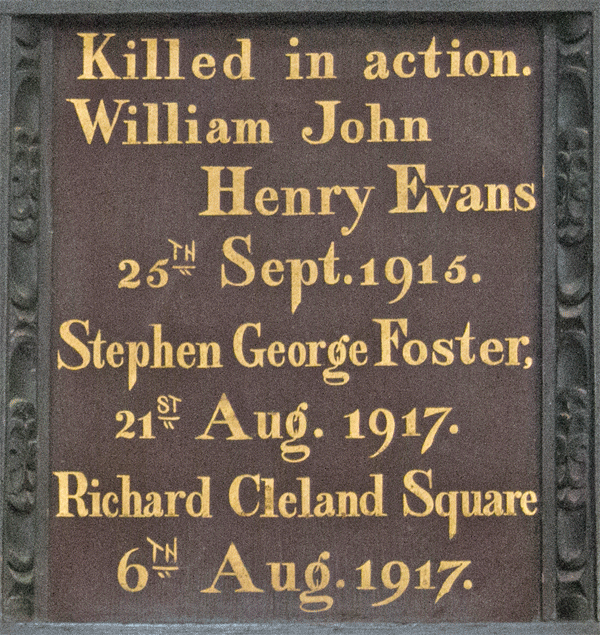 St Petrox Evans Foster Square