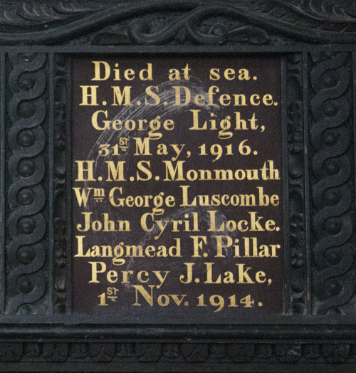 HMS Defence Memorial Board in St Petrox