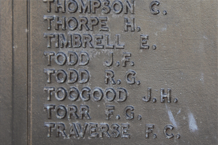 Richard Giles Todd on Plymouth Naval Memorial