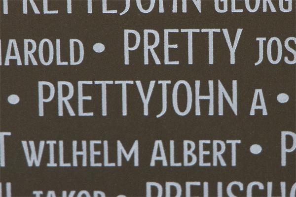 Andrew Prettyjohn Ring of Memory memorial at Notre Dame de Lorette