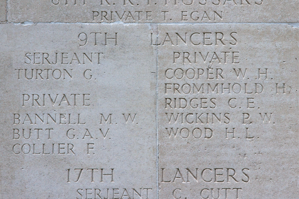 Charles Edward Ridges at Thiepval Memorial