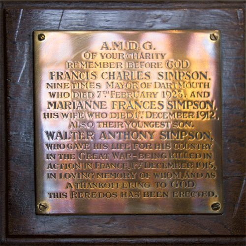 Walter Anthony Simpson Memorial Plaque