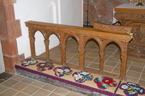 Altar Rails at St Peter's Church Stoke Fleming