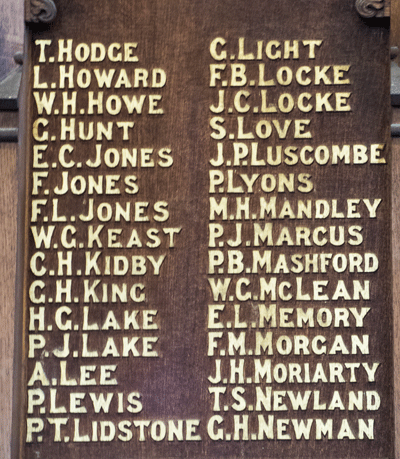 St Saviours Memorial Board