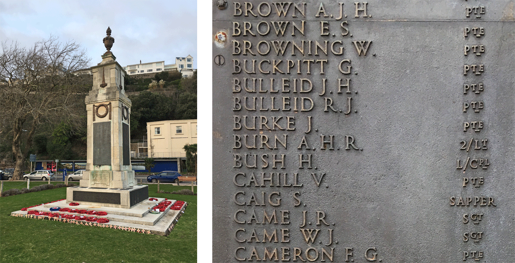 Arthur Herbert Rosdew Burn on Torquay Memorial