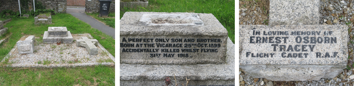 Ernest Osborn Tracey Private Memorial in St Clements Dartmouth