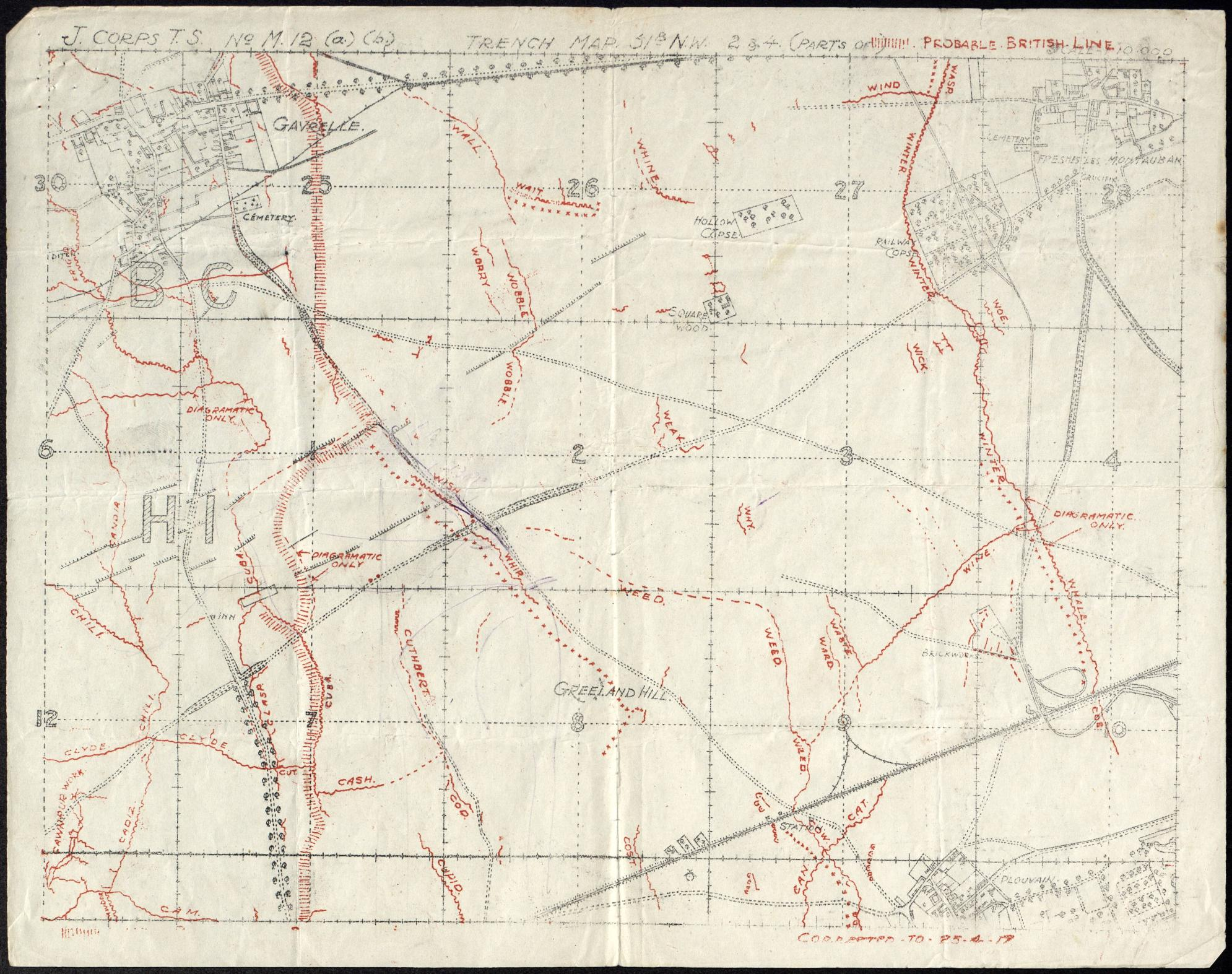 Trench Map Battle of Arleux