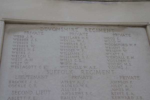 John Samuel Webber at Tyne Cot Memorial