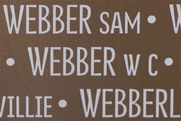 William Charles Webber Ring of Memory memorial at Notre Dame de Lorette