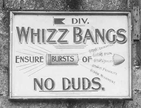 Advertisement for Whizz bangs